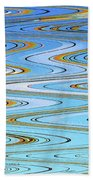 Foot Bridge Abstract Beach Towel
