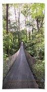 Foot Bridge In Costa Rica Beach Towel