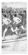 Foot Race, 1868 Beach Towel