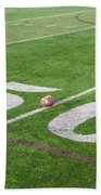 Football On The 50 Yard Line Beach Towel