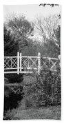 Footbridge In Black And White Beach Sheet