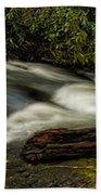 Footbridge Over Raging Moccasin Creek Beach Towel