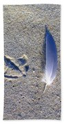 Footprint And Feather Beach Towel