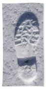 Footprint In Snow Beach Towel