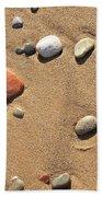 Footprint On Sand Beach Towel