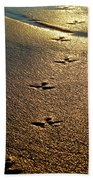Footprints - Bird Beach Towel
