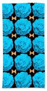 For Every Blue Rose There Is A Butterfly Beach Towel