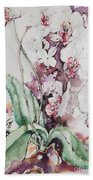For The Love Of Orchids Beach Towel