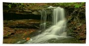 Forbes State Forest Cole Run Cave Falls Beach Towel
