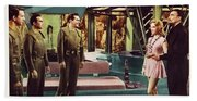 Forbidden Planet In Cinemascope Retro Classic Movie Poster Indoors Beach Towel