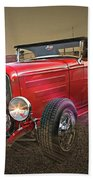 Ford Coupe Cartoon Photo Abstract Beach Towel