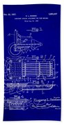 Ford Engine Lubricant Cooling Attachment Patent Drawing 1c Beach Towel