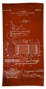 Ford Engine Lubricant Cooling Attachment Patent Drawing 1g Beach Towel
