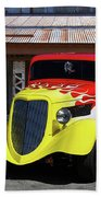 Ford Flaming Hot Rod Beach Towel