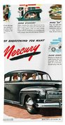 Ford Mercury Ad, 1946 Beach Towel