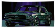 Ford Mustang 1967 Painting Beach Towel