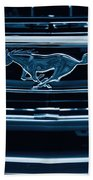 Ford Mustang Grille Beach Towel