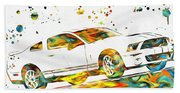 Ford Mustang Paint Splatter Beach Towel