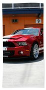 Ford Mustang Shelby Gt500 Beach Towel