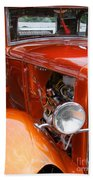 Ford V8 Right Side View Beach Towel