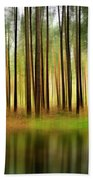 Forest Abstract Beach Towel