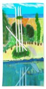 Forest At The Shore Beach Towel