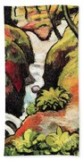 Forest Brook By August Macke Beach Towel
