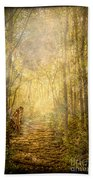 Forest Butterfly Moon Beach Towel