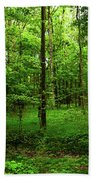 Forest Greenery Beach Towel