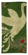 Forest Holiday Christmas Goose Beach Towel
