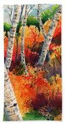 Forest In Color Beach Towel