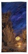 Forest Moonrise Glow Beach Towel