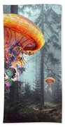 Forest Of Jellyfish Worlds Beach Towel
