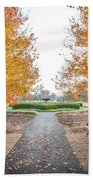 Forest Park Benches Beach Towel