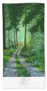 Forest Path 2 Beach Towel