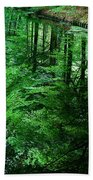 Forest Reflection Beach Towel