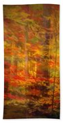 Colorful Forest, Smoky Mountains, Tennessee Beach Towel