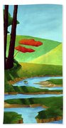 Forest Stream - Through The Forest Series Beach Towel