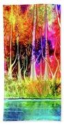 Forest Stream Beach Towel by Darren Cannell