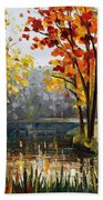 Forest Stream Beach Towel