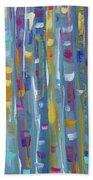 Forest Through The Trees, Abstract Art Beach Towel