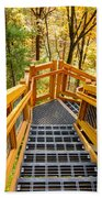 Forest Tower Steps Beach Towel