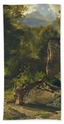 Forest Track. 1855 Beach Towel