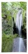 Forest With Waterfall Beach Towel