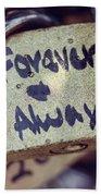 Forever And Always Paris Love Lock Beach Towel