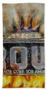 Forged In Fire - Crown - Oil Beach Towel