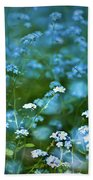 Forget-me-not Flower Patch Beach Towel