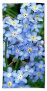 Forget-me-nots Beach Towel