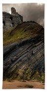 Forgotten Castle In Ballybunion Beach Sheet