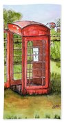 Forgotten Phone Booth Beach Towel